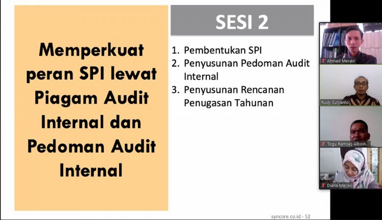 Training Online Pembentukan dan Penguatan SPI 4